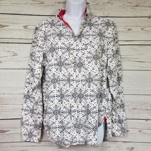VICTORIAS SECRET button up snowflake sleepshirt